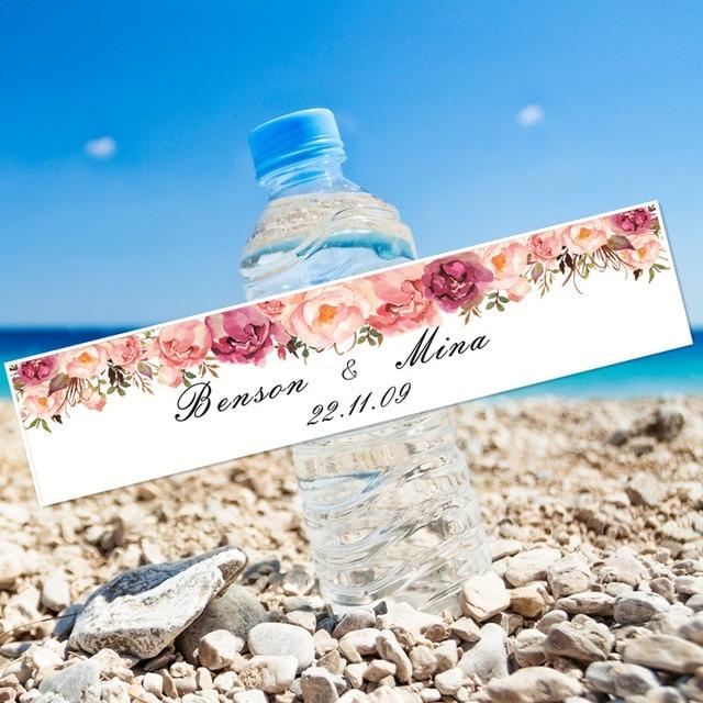 24 sztuk kwiaty modlitwa wesele rocznica podróże świeca dziecko dorosły butelka wody prezent niestandardowe naklejki etykiety