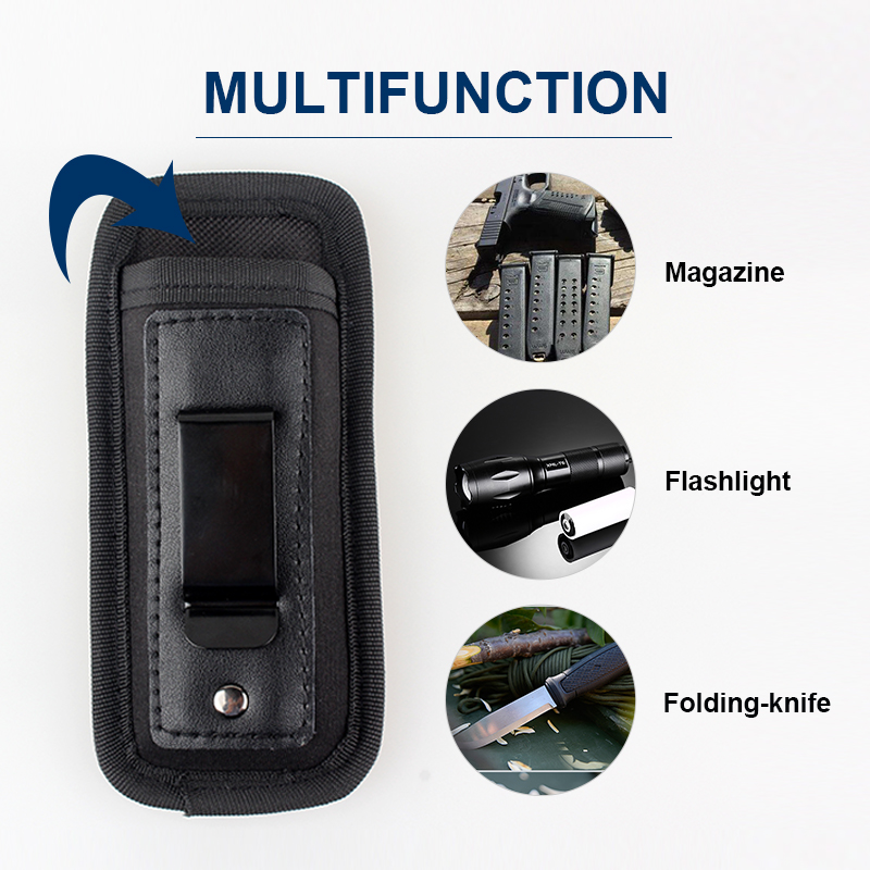 Pistol Double Stack 9mm Concealed Magazine Pouch For Beretta For Glock 17 19 21