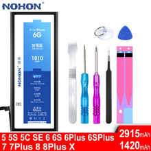 NOHON Battery Mobile-Phone-Accessory Apple iPhone Replace-Tool Original for 4 5 6 4S