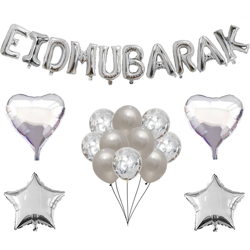 Image 3 - 16inch Rose Gold Eid Mubarak Foil Balloons Party Decoration  Supplies Ramadan Decoration Gold EID Balloons for Muslim EID  BallonParty DIY Decorations
