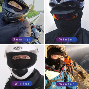Image 2 - ROCKBROS Winter Cycling Mask Fleece Thermal Keep Warm Windproof Cycling Face Mask Balaclava Ski Mask Fishing Skiing Hat Headwear