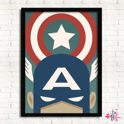 Marvel superbohaterowie Wonder Woman plakat kapitan ameryki malarstwo dekoracyjne płótno artystyczne na płótnie obraz plakat i druk