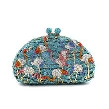 Purses Handbags Clutch-Bag Crystal Diamond Wedding Bridal Women Gift-Box Hard Party Minaudiere