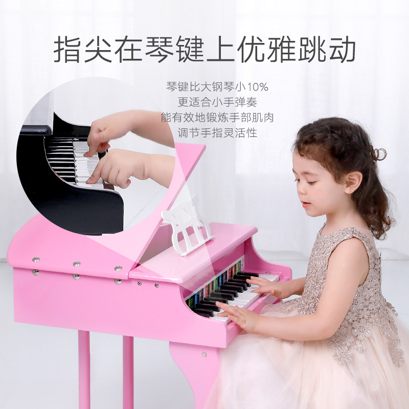 Onshine CHILDREN'S Piano 30 Key Large Size Wood Music Toy Small Piano Birthday Gift 4-Color