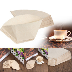 40Pcs Coffee Paper Filter Serving Paper for 101 Coffee Machine Filter Paper Unbleached Coffee Cones Cups