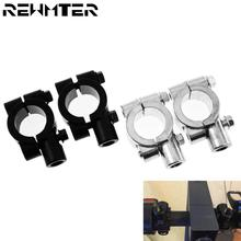 2PCS Black Silver Motorcycle accessories Mirror Mount Clamp Rear View Mirror Holder Size 22mm 10mm 8mm 10mm 25mm