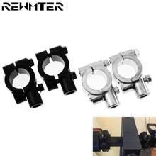 2 PCS Schwarz Silber Motorrad zubehör Spiegel Clamp Rückspiegel Halter Größe 22mm 10mm 8mm 10mm 25mm