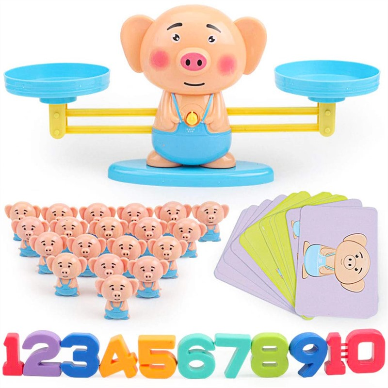 Toy Scale Math Education Toy Scale Math Match Game Board Toys Monkey Balancing Scale Number Balance Addition And Subtraction