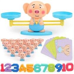 Zabawka skala matematyka edukacja zabawka skala matematyka mecz gra planszowa zabawki małpa równoważenie skala liczba balans dodawanie i odejmowanie|Zabawki matem.|   -