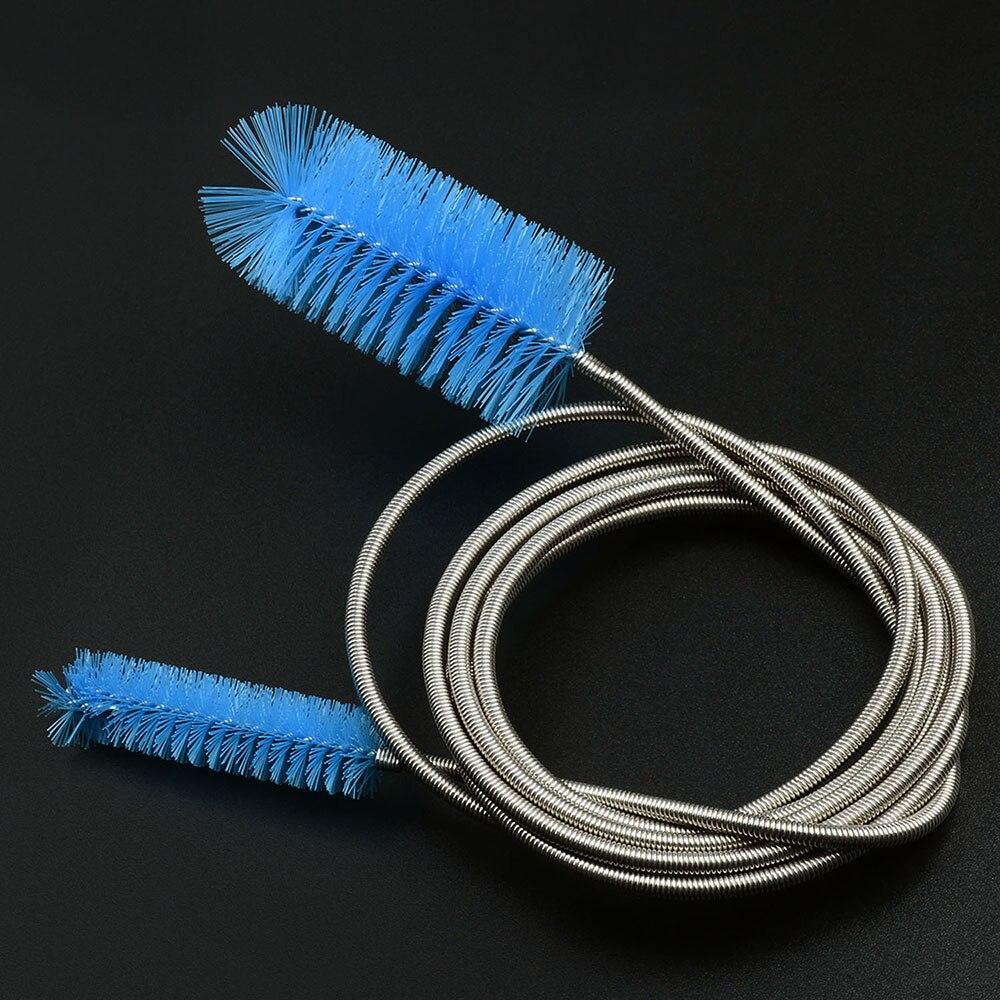 NICREW щетка для чистки аквариума для водяного фильтра Лилия труба воздушный шланг из нержавеющей стали Гибкая Двухсторонняя щетка для шлангов