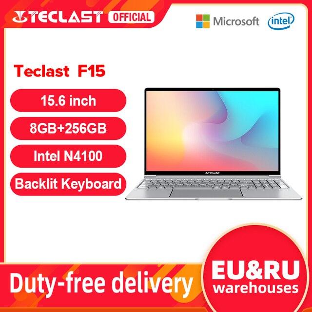 Teclast F15 Windows 10 Laptop 15.6 inch 1920x1080 FHD Intel Gemini Lake N4100 8GB RAM 256GB SSD Notebook Backlit Keyboard 1