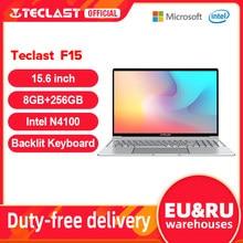 Teclast F15 Windows 10 Laptop 15,6 zoll 1920x1080 FHD Intel Gemini See N4100 8GB RAM 256GB SSD Notebook Beleuchtete Tastatur