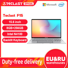 Teclast f15 windows 10 portátil 15.6 polegada 1920x1080 fhd intel gemini lago n4100 8gb ram 256gb ssd notebook teclado retroiluminado