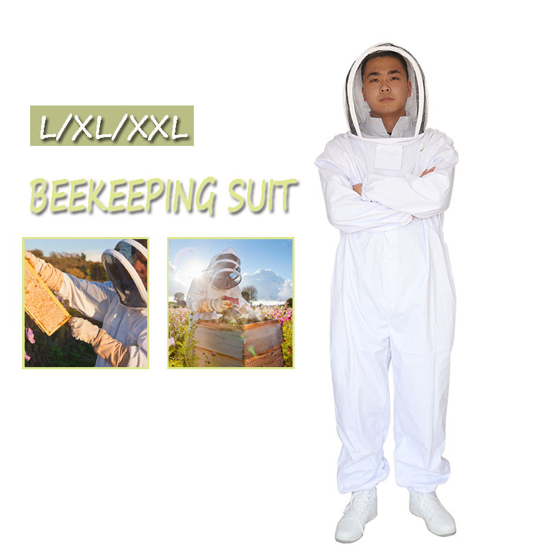 Beekeeping Clothing Protective Beekeeper Suit Veil+Beekeeping Protective Full Body Beekeeping Bee Suit Equipments