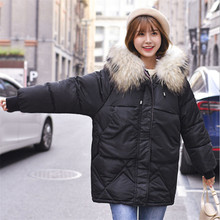 Winter Jacket Women 2019 Plus Size Womens Parkas Loose Thicken Outerwear Solid Color Fur Hooded Coats Female Cotton Padded Tops semir winter jacket women plus size l womens parkas thicken outerwear solid coats short female slim cotton padded basic tops