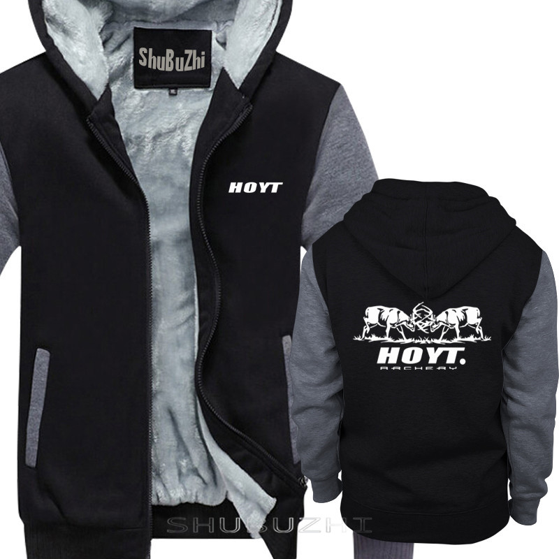 thick jacket men brand clothing new short warm coat Hoyt Archery  Fighting Bucks loose fashion brand mens hoodies sbz5074Hoodies
