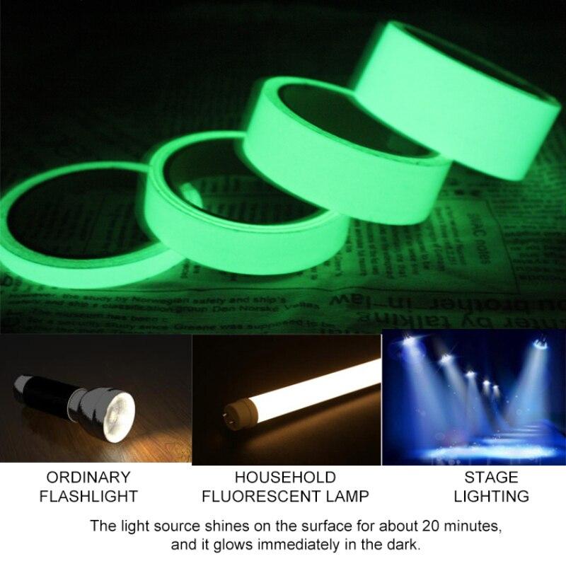 Glow In The Dark Luminous Fluorescent Night Self-adhesive Safety Sticker Tape us