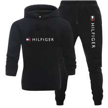 Brand Men Tracksuit 2 Pieces Men's Winter Jacket Casual Zipper Jackets Sportswear+Pants Sweatshirt Sports Suit Men Sets Clothing