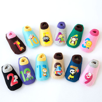Spring and winter baby shoes socks cartoon children's non-slip floor boat infant toddler age0-5Y - discount item  20% OFF Children's Clothing