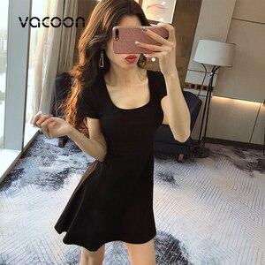 Image 3 - נקבה קיץ כותנה שמלת אישה קיץ מסיבת לילה מזדמן רופף אלגנטי שמלה אדום שחור Slim שמלה