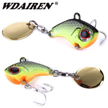 1Pcs Draaiende Metalen VIB vibration Bait Spinner Lepel Vissen Lokt 9g 16g 21g Jigs Forel Winter vissen Hard Baits Tackle Pesca(China)