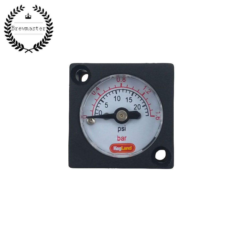 MINI GAUGE 0-23PSI (0-1.5BAR) - FOR INLINE DUOTIGHT REGULATOR OR BLOWTIE