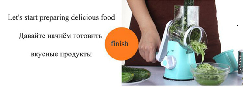 Multifunction Round Mandoline Slicer with 6 Changeable Stainless Steel Blades as Kitchen Tool 13