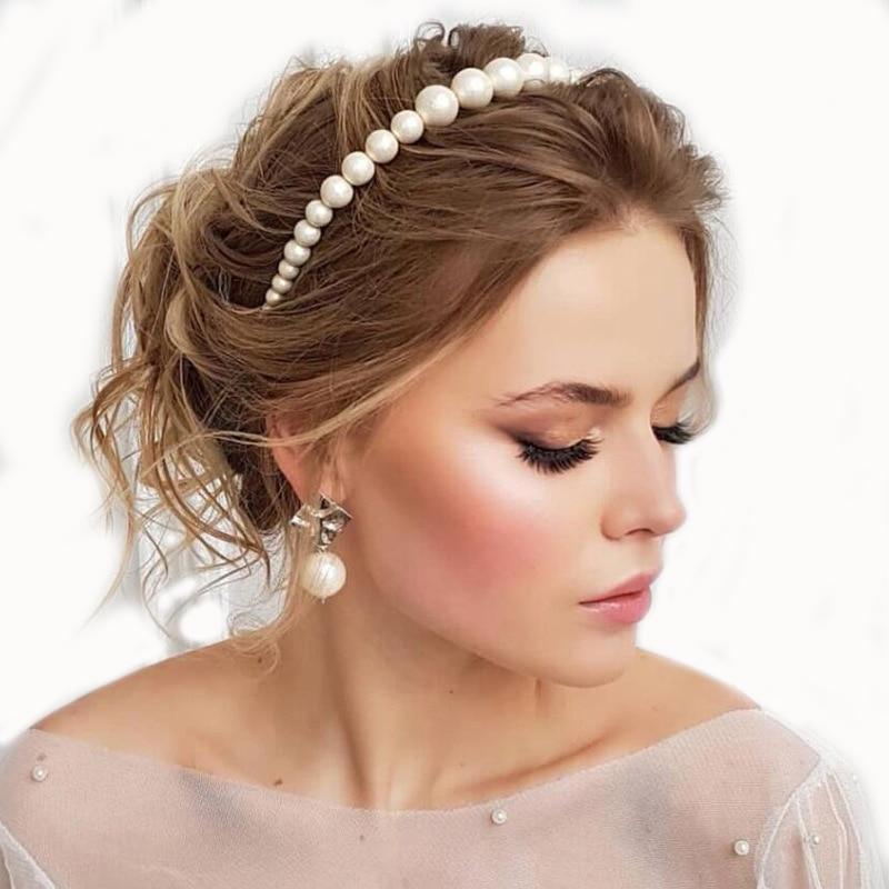 Luxury Big Pearl Hair Hoop For Women Women's Hair Elegant Headband Accesorios Mujer Fashion Bezel Turban Girls Hair Headwear