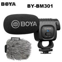 BOYA BY BM3011 On Camera Cardioid Condenser Microphone Audio Video Studio Mic for Canon Nikon DSLR PC Smartphone Live Vlog