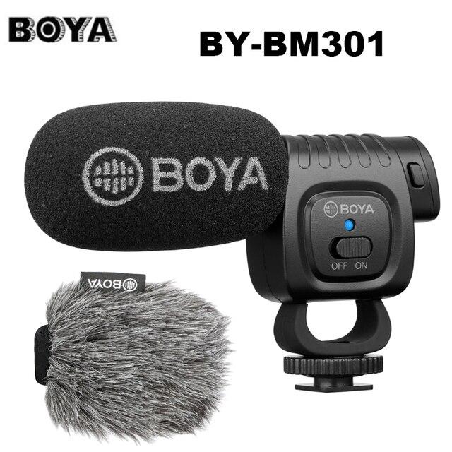 BOYA BY BM3011 على كاميرا مكثف القلب ميكروفون الصوت والفيديو استوديو هيئة التصنيع العسكري لكانون نيكون DSLR PC الهاتف الذكي لايف تسجيل الدخول