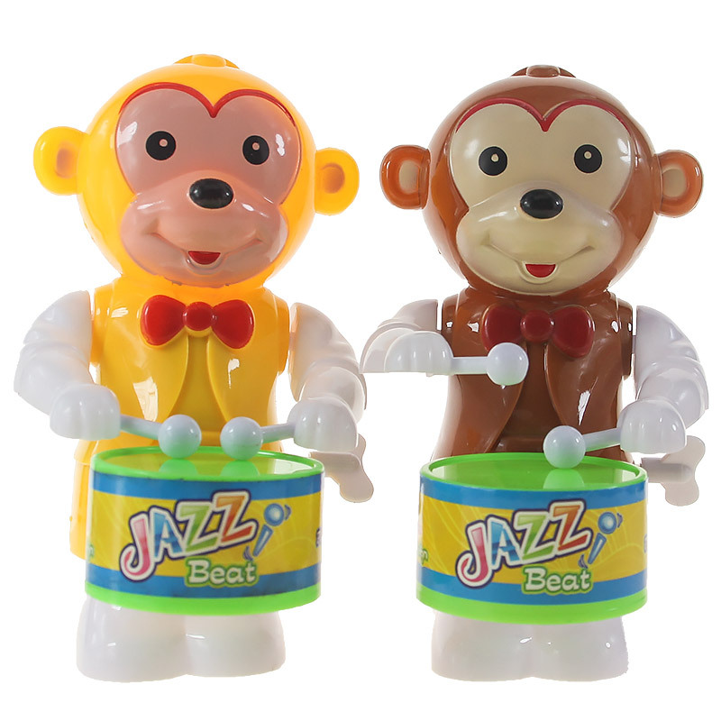 Winding Drum Monkey Children'S Educational Wind-up Toy Small Gift Night Market Stall Physical Store Supply Of Goods Hot Selling