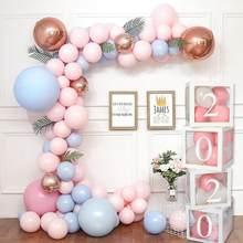 Przezroczysty numer wiek Box Girl Boy dekoracje na Baby Shower Baby 2 1st 1 One dekoracje na przyjęcie urodzinowe akcesoria do upominków dla dzieci Babyshower