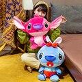 Kawaii Stitch превращается в пчелку плюшевые животные мягкие большие игрушечные подушки большие уши кукла мультфильм украшение для детской комн...