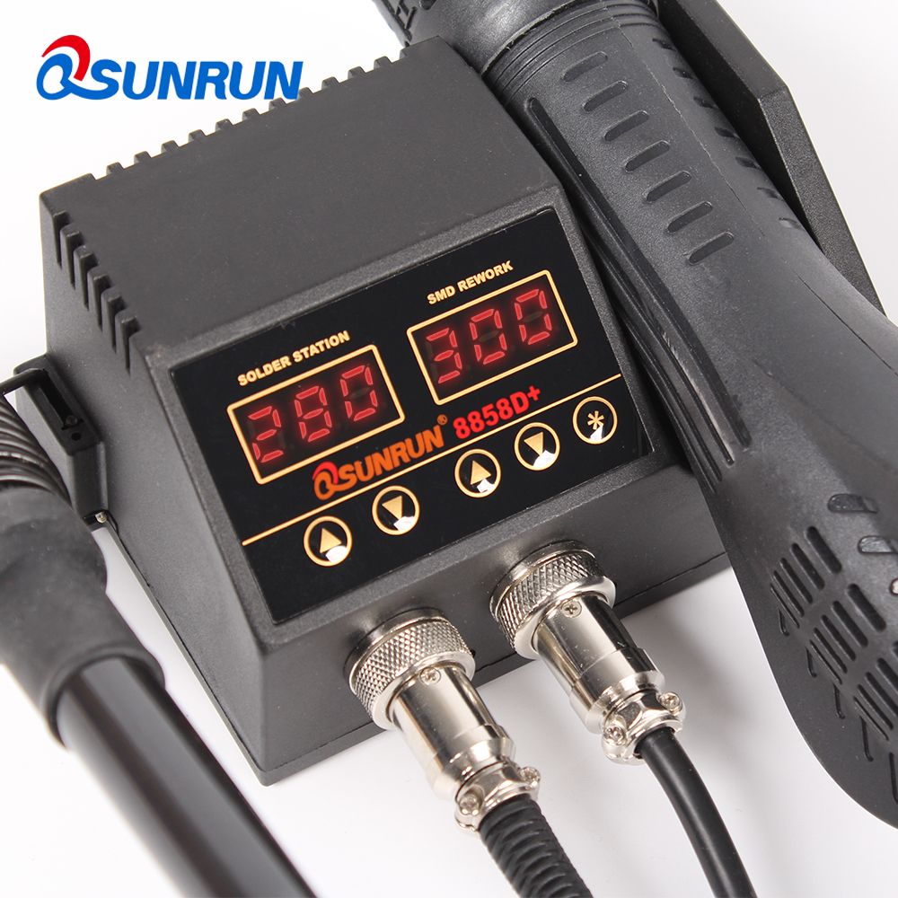 8858D    8858D PlusUpgraded version of 88582-In-1 Digital Display Rework Station SMD Soldering Station Hot Air Soldering Iron