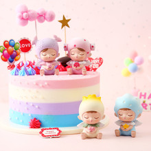 Cute Elf Doll Car Interior Decoration Cake Baking Decorations Resin Crafts Home Accessories Modern