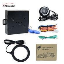 Противоугонная Система Авто сигнализация Старт стоп двигатель Starline Кнопка RFID замок зажигания переключатель без ключа система входа стартер