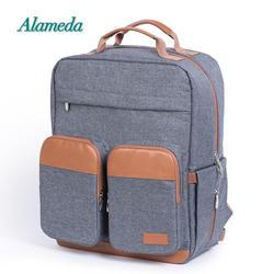 Bolsa de maternidad de moda, bolsa para pañales, mochila para el cuidado del bebé, gran capacidad, bolsa de pañales de viaje para cochecito con almohadilla de cambio