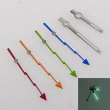 Needles Miyota 8215 NH35A 7S26 Flash-Watch Orange 2813 8205 Fit Blue 821A 4R35 MINGZHU