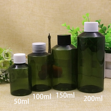 200ml 150ml 100ml 50ml Green Plastic Bottle Refillable Shower Gel Shampoo Packaging Face Toners Lotion Cream Container Screw Cap 30 x 100ml 150ml 200ml plastic white black medical pill bottles for medicine capsules packaging container with tamper seal