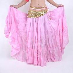 16 цветов Племенной танец живота выступления для женщин Цыганский полный круг льняная юбка Цыганский танец живота юбки