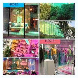 Image 1 - SUNICE 百貨店ホーム Fesitval DIY レインボー効果窓フィルム玉虫色装飾ガラス粘着 68 センチメートル × 700 センチメートル