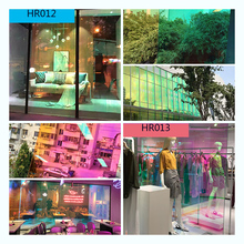 SUNICE מחלקת חנות בית Fesitval DIY קשת אפקט חלון סרט ססגוני דקורטיבי זכוכית דבק 68cm X 700cm