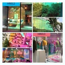 Sunice loja de departamento casa fesitval diy arco íris efeito janela filme iridescente decorativo vidro adesivo 68cm x 700cm