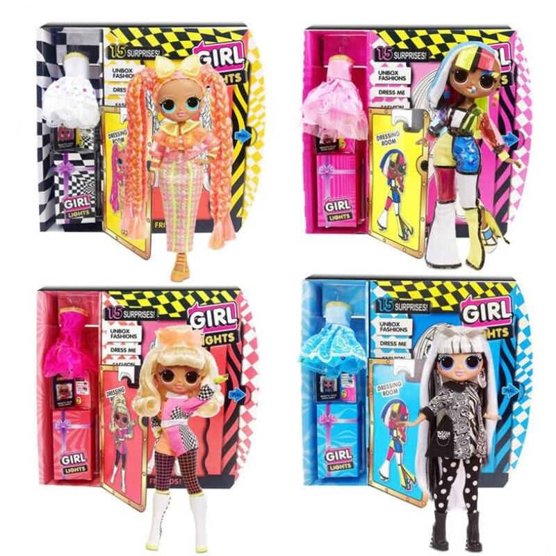 3rd Generation 4 Models 27cm L.O.L Surprise! OMG Winter Disco Dollie LOL Doll Fashion