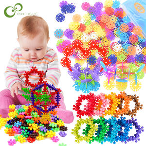 Snowflake Building Educational 3D Plastic for Kids GYH Jigsaw Intelligence-Toys Puzzle