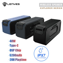 цена на IPX7 Waterproof Portable Type-C Wireless TWS Bluetooth V4.2 stereo bass Speaker Audio DSP sound TF Speaker for Outdoor with Mic