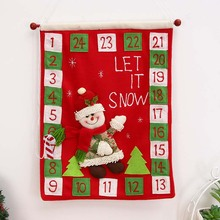Christmas Felt Advent Calendar Countdown to Christmas Party Homemade Decoration for home New Year Santa Claus Hanging Ornaments все цены