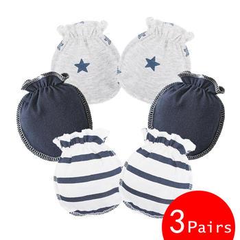 blue cotton mittens