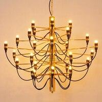Jmmxiuz Modern home decoration lamps 30/50 gold / silver Gino sarfatti designed chandelier dining room light the room