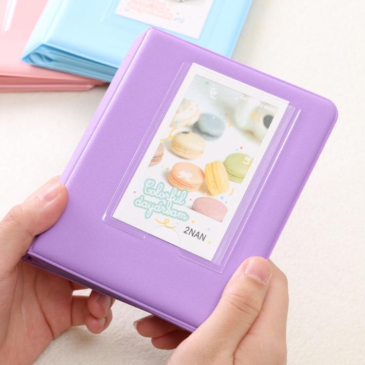 64 Карманы Мини Мгновенный Полароид фотоальбом чехол для хранения для Кореи instax Мини альбом